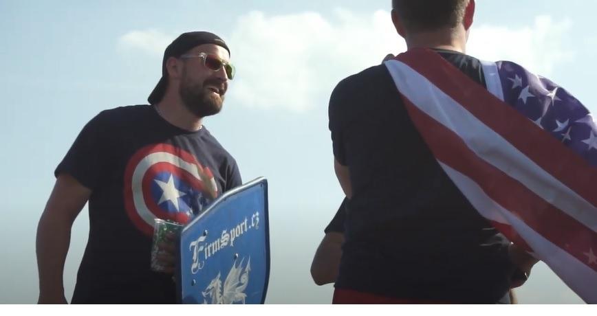 Kapitán amerika s terčem Firmsport - Americká vlajka